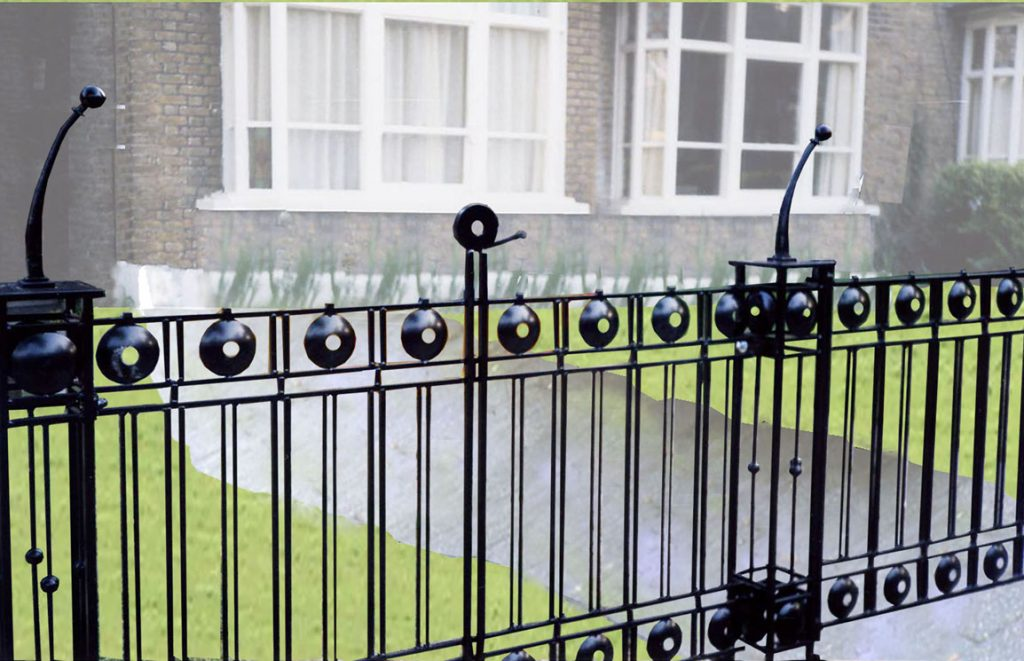 London house Railings - detail