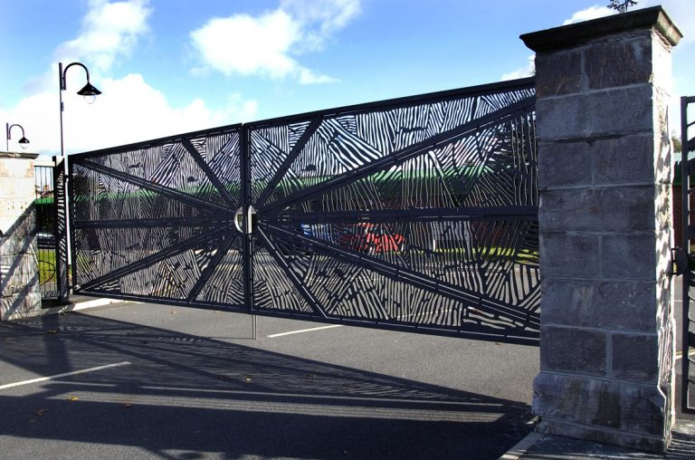 The entrance gates to the Scott Business, Park Plymouth