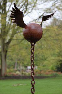 Resisting Arrest - garden sculpture - steel