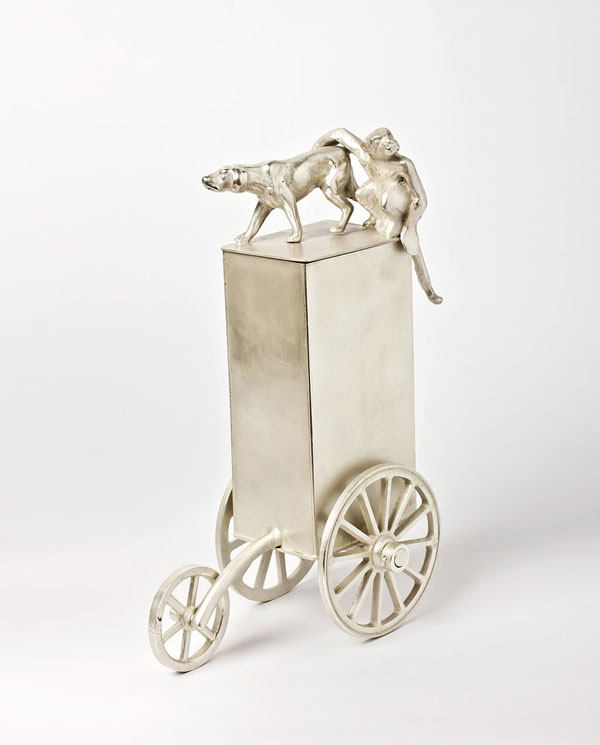 Circus - silver plated brass and copper vessel - 24cm